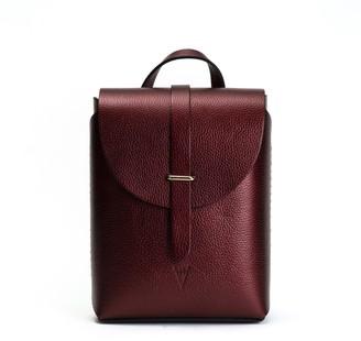 Hiva Atelier Liber Leather Bag Metallic Burgundy