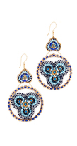 Miguel Ases Beaded Disc Earrings