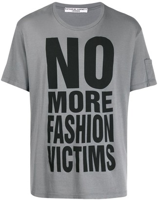Katharine Hamnett organic cotton slogan T-shirt