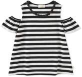 Juicy Couture Girls' Striped Cold-Shoulder Top