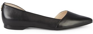 Cole Haan Bambra Skimmer II Leather Point-Toe Flats