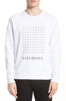 Saturdays NYC Men's Bowery Grid Logo Sweatshirt