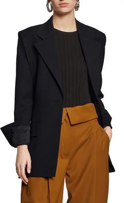 Proenza Schouler Double Sleeve Stretch Wool Blazer