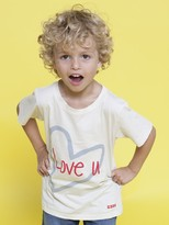 Peace Love World Love u Mean It Toddler White Short Sleeve Tee
