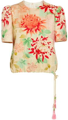 Odeonia Red Lily Top