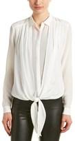 The Kooples Tie-front Silk Blouse.
