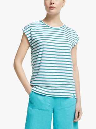 John Lewis & Partners Cotton Slub Stripe T-Shirt
