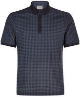 Armani Collezioni Triangle Print Polo Shirt
