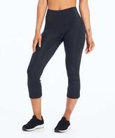Balance Collection Women's Active Pants BLACK - 22'' Black Flare-Hem Hattie Capri Leggings - Women
