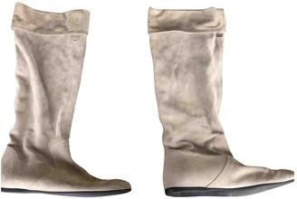 Gucci Ecru Suede Boots
