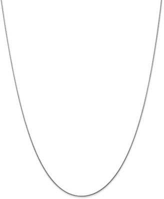 Curata 14k White Gold Solid 0.8mm Round Snake Chain Necklace