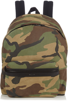 Saint Laurent Camouflage-print suede backpack