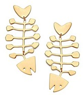 Tory Burch Fish Statement Earring