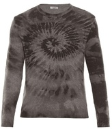 Valentino Tie-dye Wool And Cashmere-blend Sweater