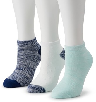 Cuddl Duds Women's Everyday 3-pack Low Cut Socks