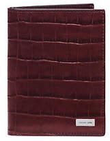 Michael Kors Bryant Embossed-Leather Passport Case