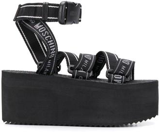 Moschino Ankle Strap Platform Sandals