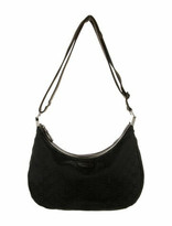 Thumbnail for your product : Gucci Leather-Trimmed GG Canvas Messenger Bag Black