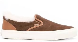 Vans shearling trim slip-on sneakers