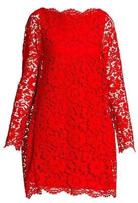 Valentino Women's Heavy Lace Cape Mini Dress