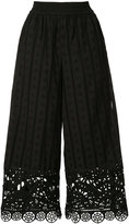 Opening Ceremony broderie anglaise trousers - women - Cotton - XS