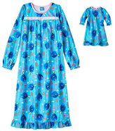 "Girl's Nightgown Matching 18"" Doll Gown Disney Pixar Finding Dory, 8"