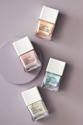 Nails Inc What The Shell Nail Polish By in Silver Size ALL