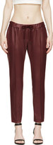 Christopher Kane Burgundy Coated Slim Trousers
