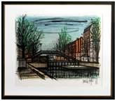 RoGallery Canal St. Martin by Bernard Buffet (Framed Lithograph)