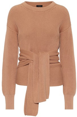 Joseph Ribbed-knit cotton wrap sweater