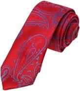DAE7B03E Black Red Patterned Microfiber Skinny Tie Beautiful Design Slim Tie By Dan Smith
