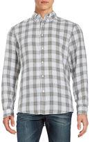 Black Brown 1826 Linen Plaid Check Sportshirt