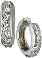 Neiman Marcus Diamonds 18k White Gold Diamond Huggie Earrings