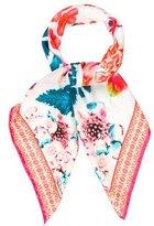 Roberto Cavalli Botanical Print Silk Scarf