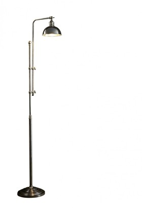 Emac & Lawton Michigan Floor Lamp Antique Silver