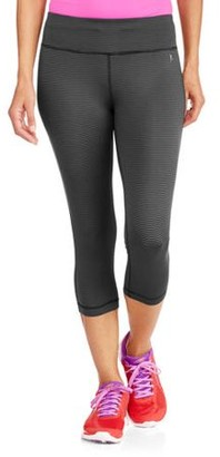 Danskin Women's Active 19 inseam Stripe Capri Tight