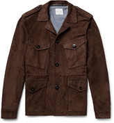 Paul Smith Slim-fit Suede Field Jacket - Chocolate
