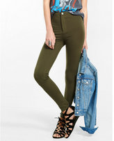 Express olive high waisted ponte knit leggings