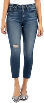 KUT from the Kloth Rachael Ripped Raw Hem Mom Ankle Jeans
