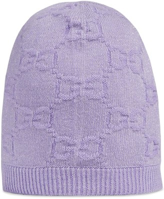 Gucci Kids GG metallic-knit beanie hat