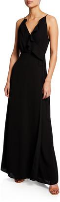 WAYF The Jamie Lace-Up Maxi Dress
