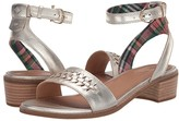 Sperry Seaport City Sandal Ankle Strap Woven Leather (Platinum) Women's Shoes