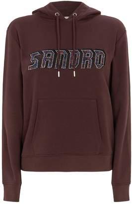Sandro Applique Logo Hoodie