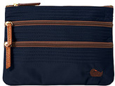 Dooney & Bourke Large Triple Zip Flat Cosmetic Case