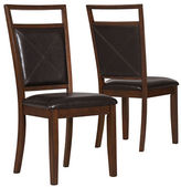 Monarch Two-Piece Cross Leather Dining Set