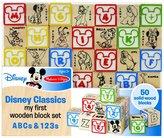 Melissa & Doug Disney Baby Classics My First Wooden Block Set - ABCs & 123s