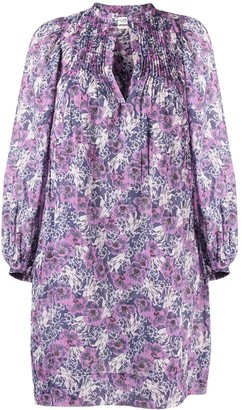 Etoile Isabel Marant Floral-Print Long-Sleeved Midi Dress