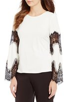 Investments Lace Bell Sleeve Top