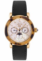 Gv2 GV2 Women's Moon Valley Gold Tone Swiss Quartz Watch with Suede Strap Brown 18 (Model: 9826.7)