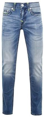 True Religion Rocco Neon Super Skinny Jeans